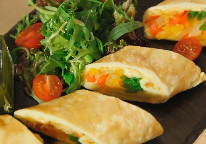 французский омлет с овощами