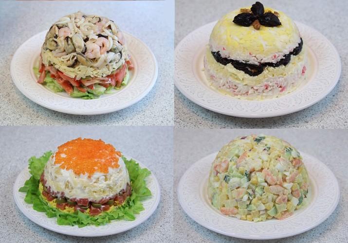 Салаты слоями из кальмаров рецепты с фото простые и вкусные