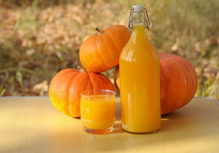 Сок из тыквы с мякотью