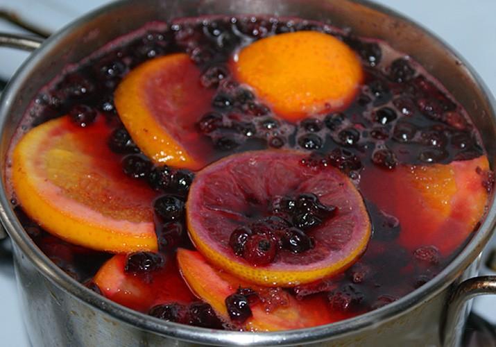 компот из черноплодной рябины с апельсином