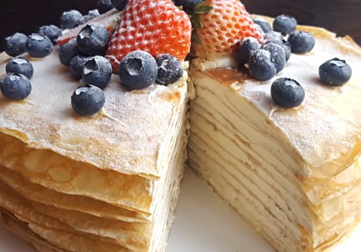 Блинный торт - 10 пошаговых рецептов