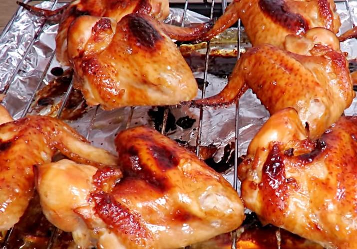 куриные крылышки в медово-соевом соусе запеченные в духовке