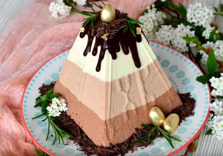 шоколадная творожная пасха