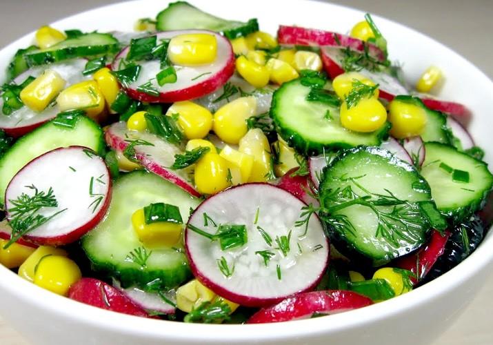 салат пятиминутка с редисом