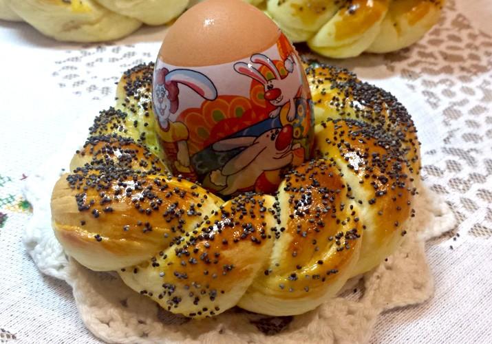 сдобные веночки для пасхальных яиц с маком