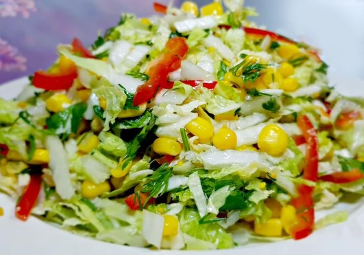 салат легкий и вкусный без майонеза