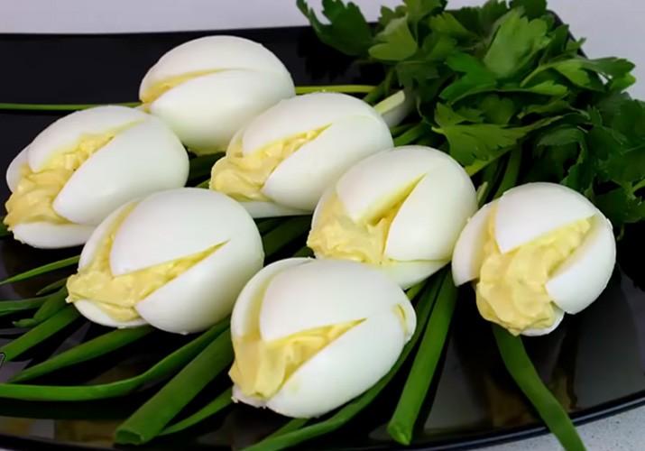 салат белые тюльпаны