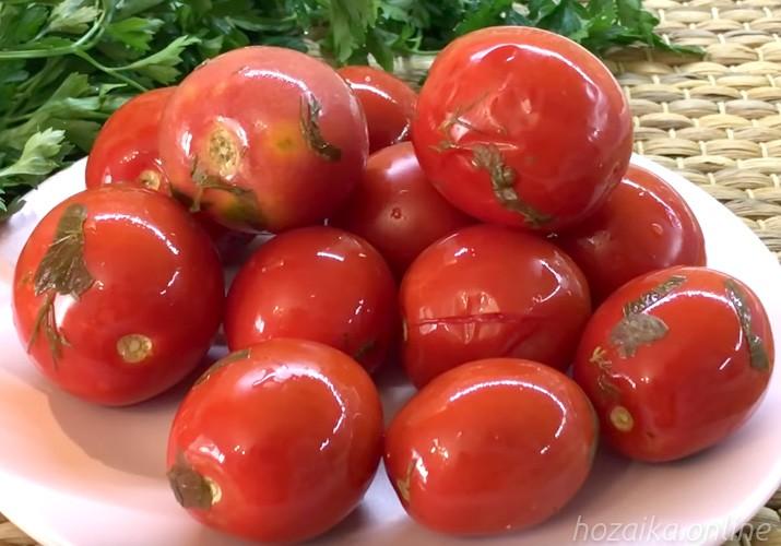 малосольные помидоры быстрого приготовления в рассоле