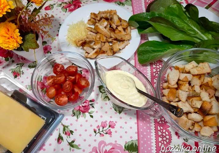 соус для цезаря с салатом ромэн