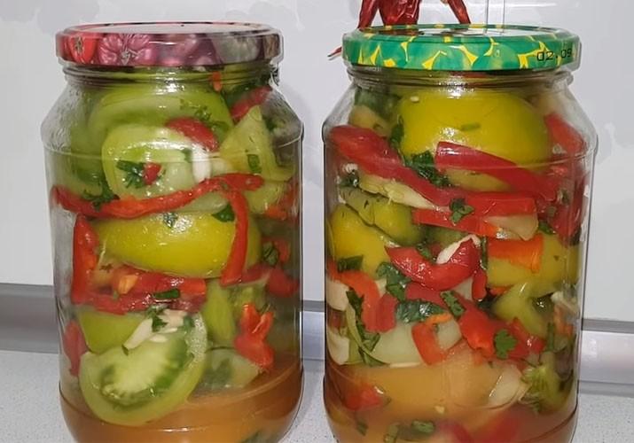 зеленые помидоры на зиму без стерилизации