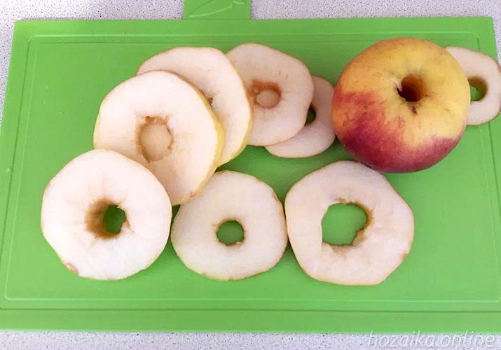 яблоко разрезанное кружками