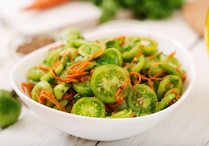 зеленые помидоры в масле