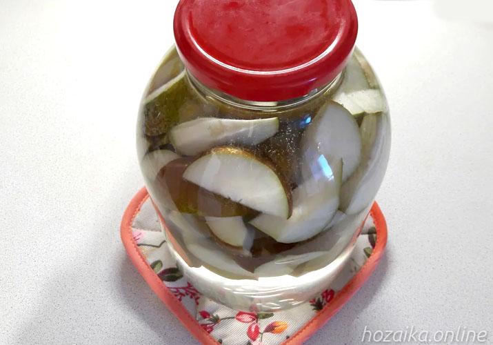 бланширование яблок и груш для компота