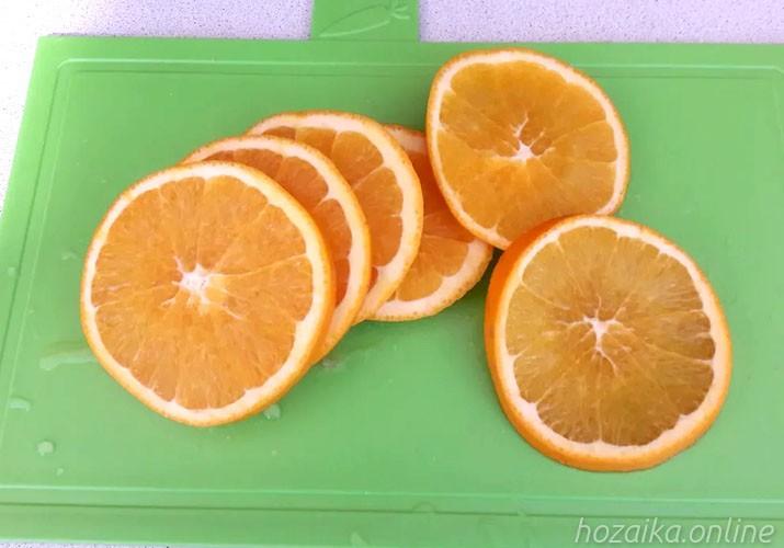 апельсин нарезанный кружками
