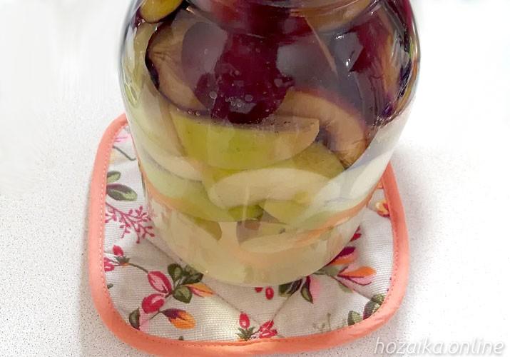 бланшируем яблоки и сливы