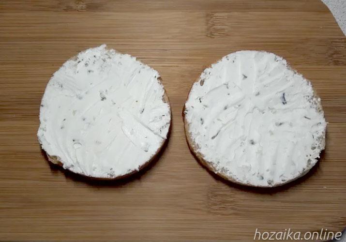 багет с творожным сыром