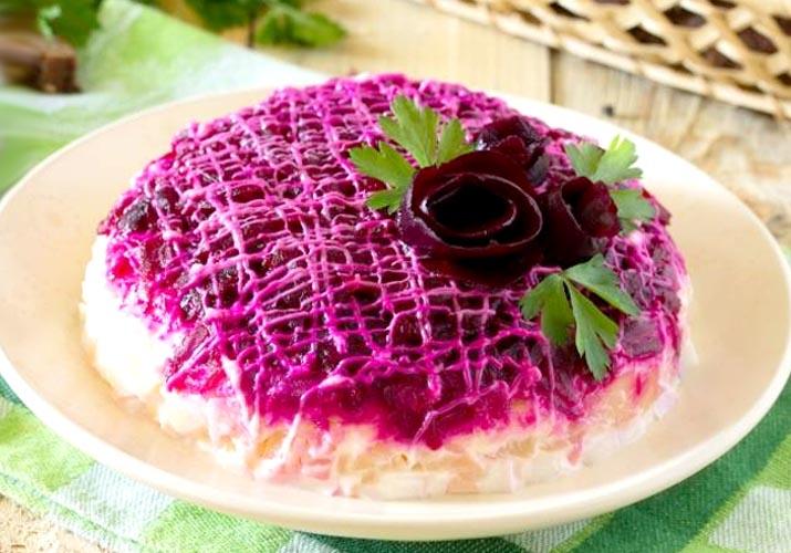 Селедка под шубой — классический рецепт   слои с пошаговым приготовлением