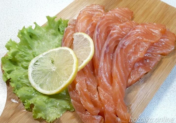 малосольная красная рыба в домашних условиях