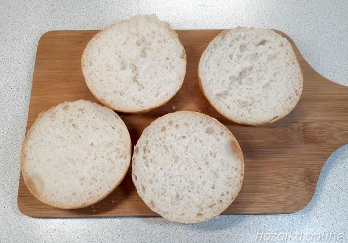 булочки для бутербродов в разрезе