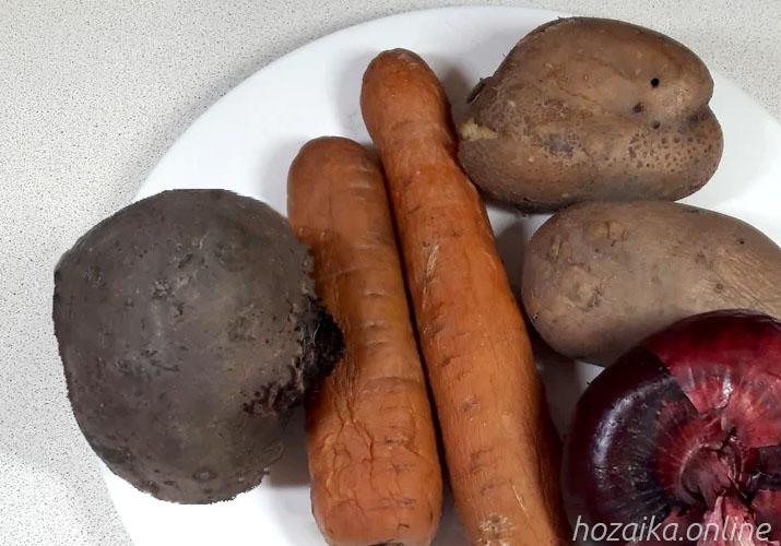 отварные овощи для селедки под шубой