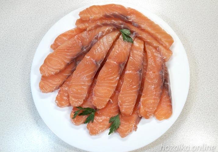 красная рыба малосольная на 15 минут