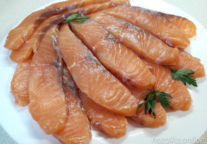 малосол из красной рыбы за 15 минут