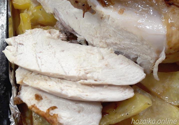 филе целой курицы с картофелем