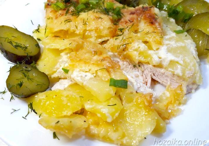 мясо по-французски из куриного филе классика