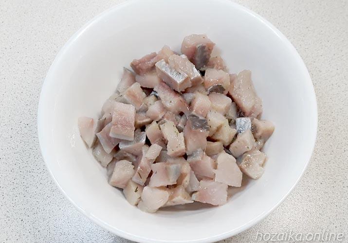 селедка нарезанная для винегрета