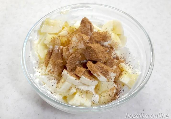 начинка для блинчиков с творогом и бананом