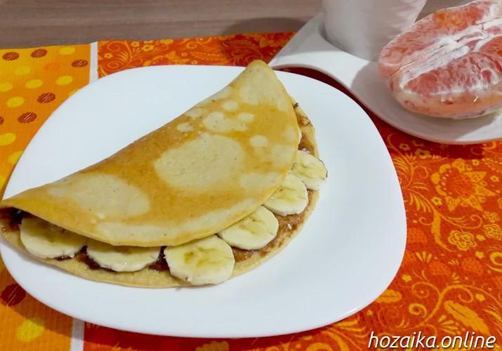 овсяноблин с бананом