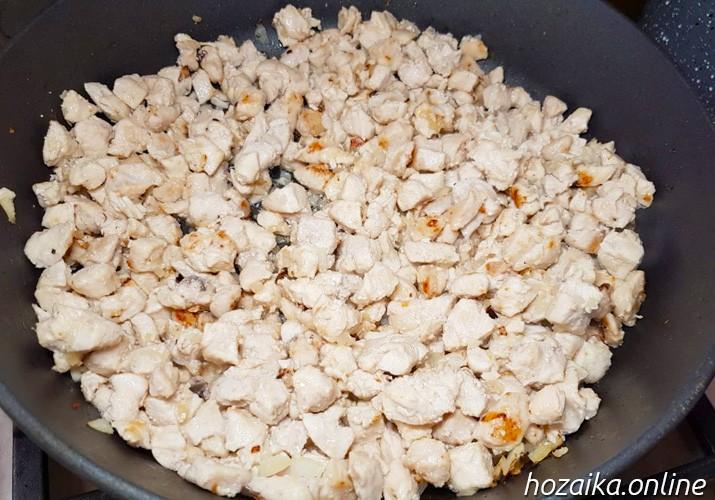 поджаренное филе курицы для запеканки