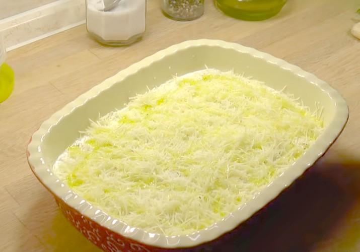 запеканка из цветной капусты с сыром в форме для запекания