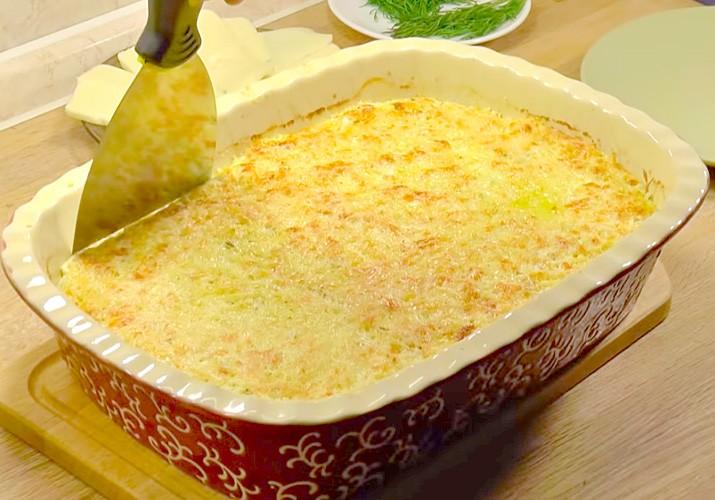 готовая запеканка из цветной капусты с сыром