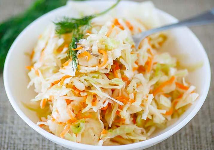салат из свежей капусты как в столовой
