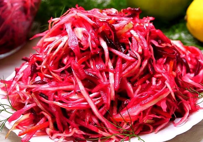 салат из капусты со свеклой