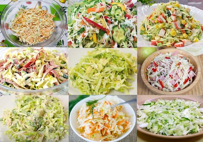 салаты из капусты 18 рецептов