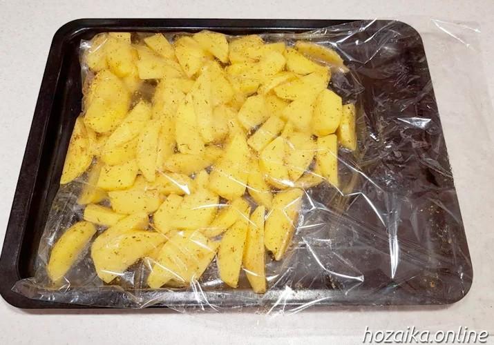 картофельная подушка для ножек
