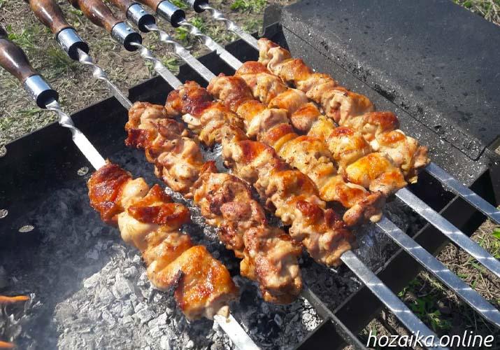 шашлык из курицы на мангале