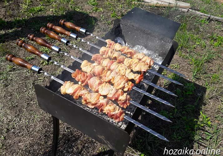 куриный шашлык на мангале