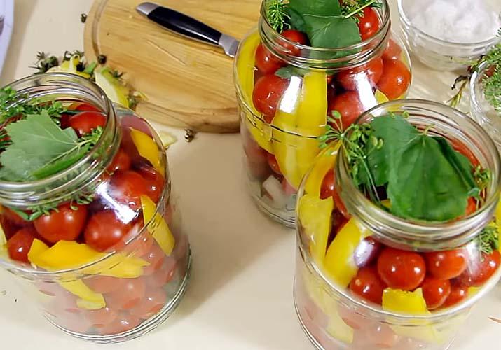 помидоры черри с болгарским перцем - пальчики оближешь