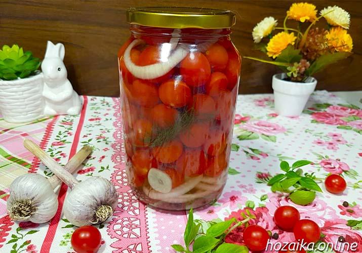 маринованные томаты черри - рецепт на 1 литр