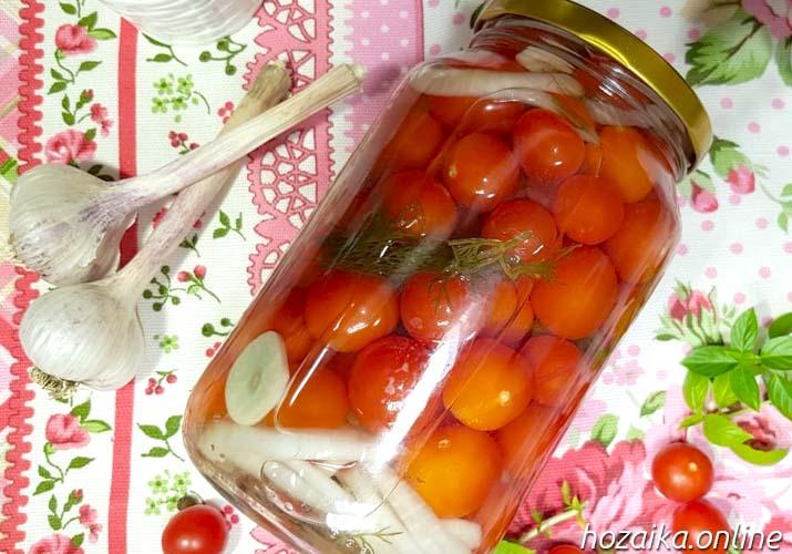 готовые маринованные помидоры черри 1 литр на зиму