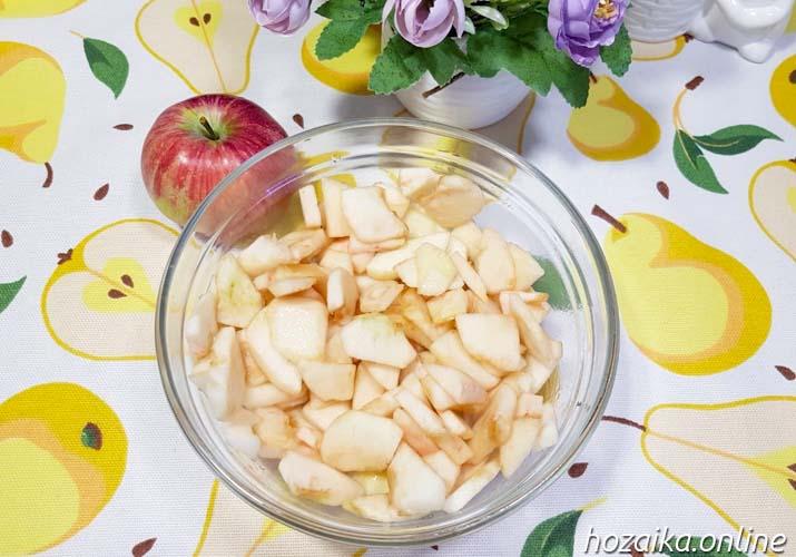яблочные ломтики для начинки в цветаевский пирог
