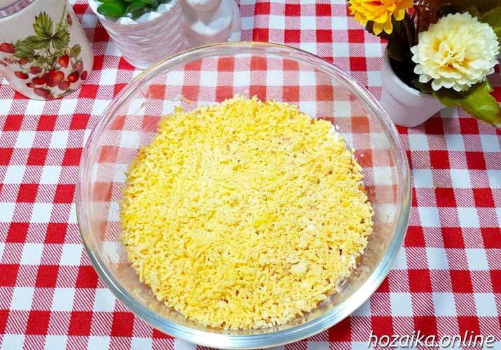 готовый салат Мимоза с рисом