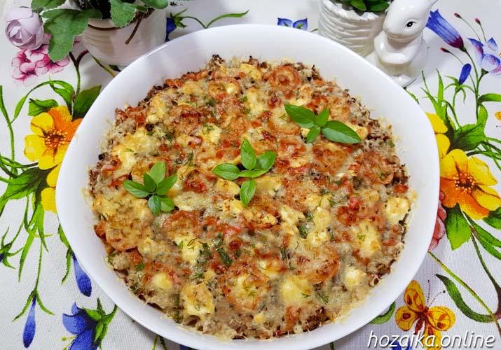запеканка картофельная с фаршем и сыром