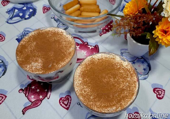десерт тирамису с вишней