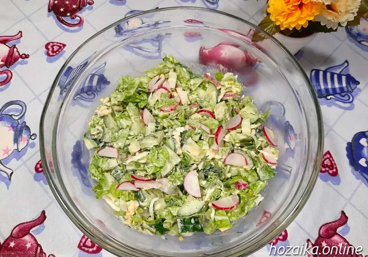 весенний салат с пекинкой