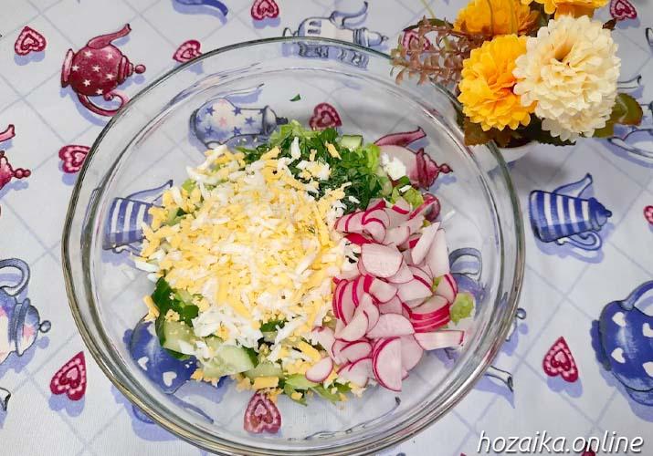 составляющие весеннего салата