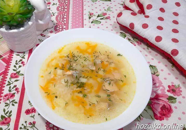 суп из кеты с картофелем и рисом